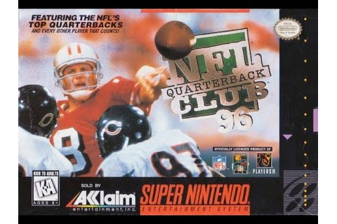NFL Quarterback Club '96 (Super Nintendo) - Game Play ...