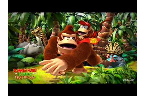 Donkey Kong Country Returns Music - Game Over - YouTube