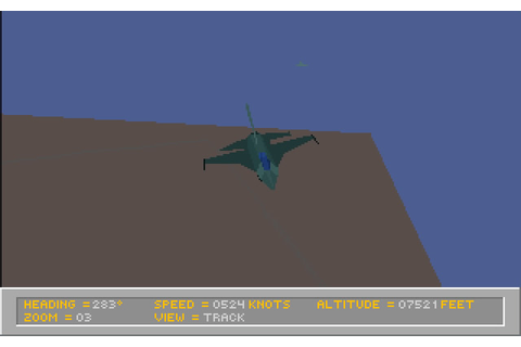 Falcon 3.0 vehicle simulation for DOS (1991) - Abandonware DOS