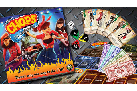 Chops The Rock N Roll Game Review | Board games, Rock and ...