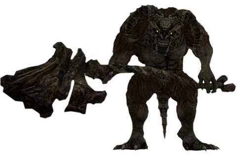 The Taurus Demon Boss from Dark Souls - Game Art
