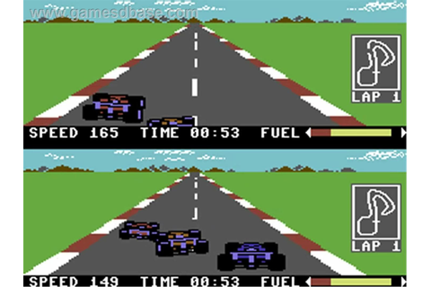 Pitstop II (Commodore 64) | Old games