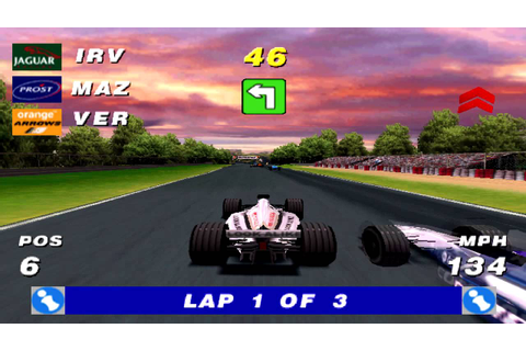 Formula One Arcade Gameplay Single Race (PSX,PS) - YouTube