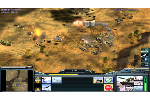 Command & Conquer Generals: Zero Hour Gameplay USA 1v1 ...