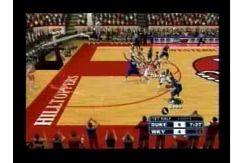 College Hoops 2K7 (PS2) - Gameplay Sample - YouTube