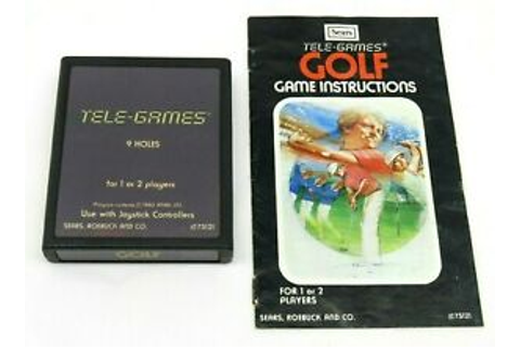 Golf (Atari 2600, 1980) By Sears TELE-GAMES (Cartridge ...
