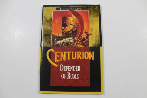 Manual - Centurion Defender Of Rome - Sega Genesis
