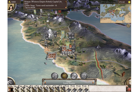 Rome Total War Barbarian Invasion Released on iPad - Rome ...