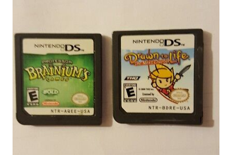 Lot of 2 Drawn to Life & Professor Brainium's Games for ...