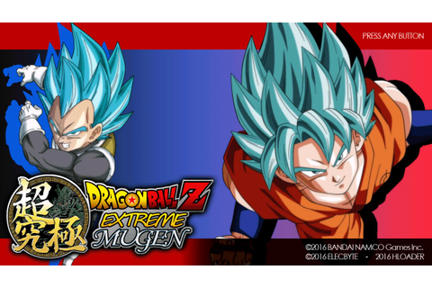 Dragon Ball Z Extreme Mugen Screenpack Test - YouTube