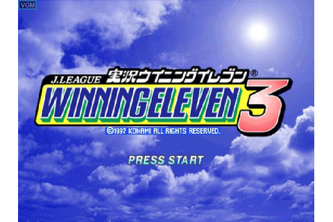 J. League Jikkyou Winning Eleven 3 for Sony Playstation ...