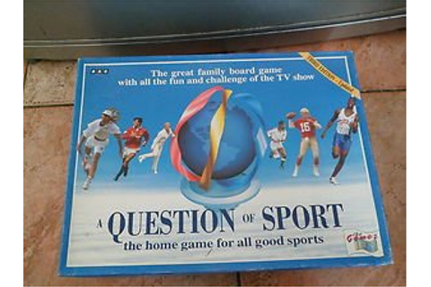 BBC QUESTION OF SPORT BOARD GAME: Amazon.co.uk: Toys & Games