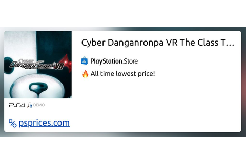 Cyber Danganronpa VR The Class Trial Demo for PS4 — buy ...