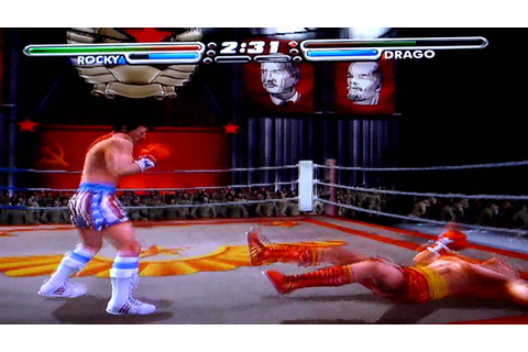 Game Play Playstation 2 -Rocky Vs Ivan Drago - YouTube