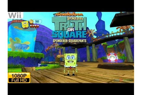 SpongeBob's Truth or Square - Wii Gameplay 1080p (Dolphin ...