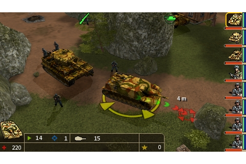 Legends of War: Patton's Campaign Screenshots for PSP ...