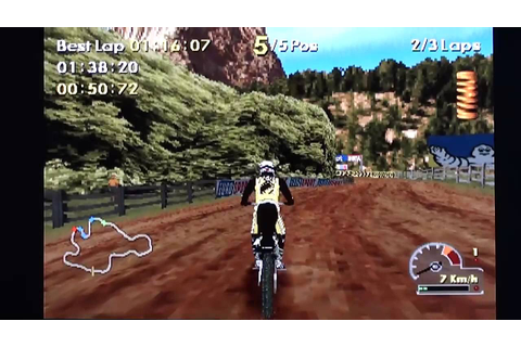 Moto Racer World Tour on Playstation (PS1) - YouTube