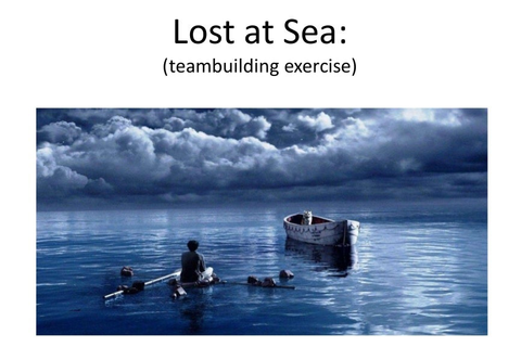 Lost at Sea Team Building Exercise power point slides