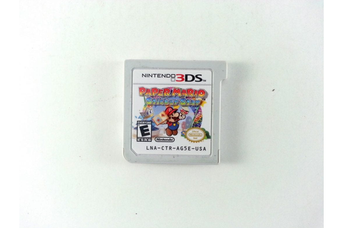 Paper Mario: Sticker Star game for Nintendo 3DS (Loose ...