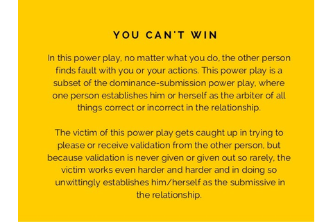 Power Plays & Mind Games - The Top 3 Games People Play ...