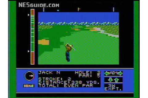 Jack Nicklaus' Major Championship Golf - NES Gameplay ...