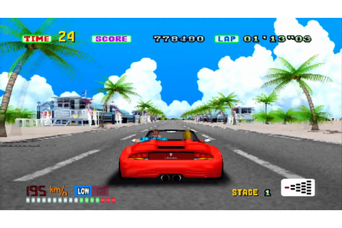 Outrun 3d remake- PS2 on PS3- HD - YouTube