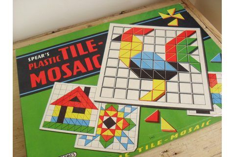 Spear's Game RETRO Game Plastic TILE-MOSAIC 1950s/60s
