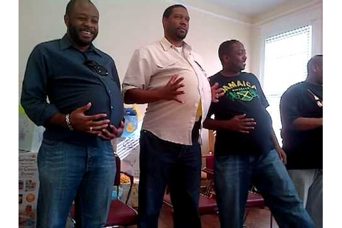 pregnant man game at baby shower - YouTube