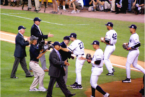 MLB All-Star Game 2008 - Ceremonial first pitches - A gath ...