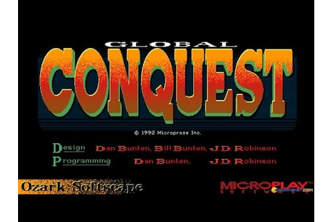 Global Conquest gameplay (PC Game, 1992) - YouTube