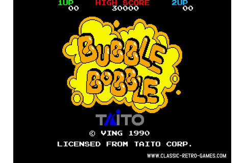 Download Bubble Bobble & Play Free | Classic Retro Games