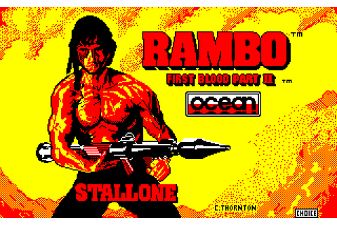 Rambo: First Blood Part II (1986) by Ocean Amstrad CPC game