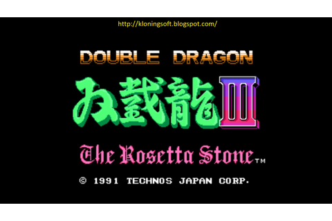 Free Download Games Double Dragon III The Rosetta Stone ...