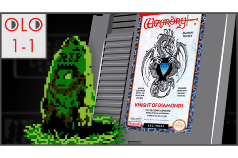 Wizardry II: The Knight of Diamonds - NES - Only Level One ...