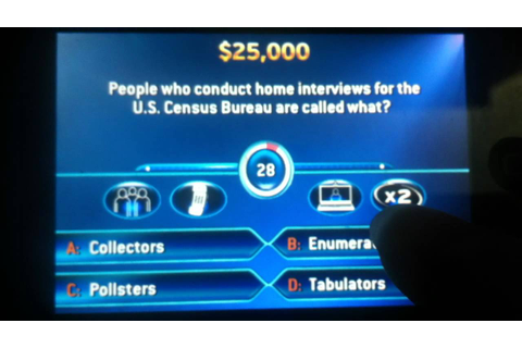 Who Wants To Be A Millionaire Game - YouTube
