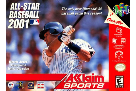 All-Star Baseball 2001 Nintendo 64 Game