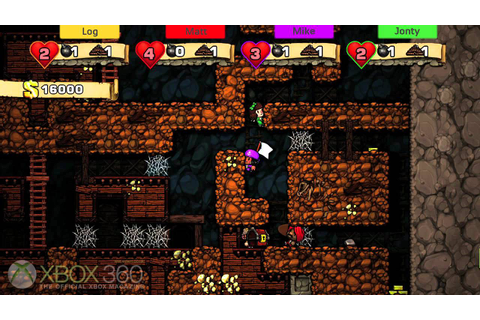 Spelunky Xbox 360 Gameplay - OXM Multiplayer - YouTube