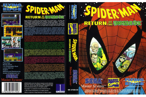 Spider-Man - Return of the Sinister Six - Europe All sides ...
