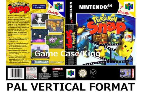 Pokémon Snap N64 Game Case | Game Case King - Custom Game ...