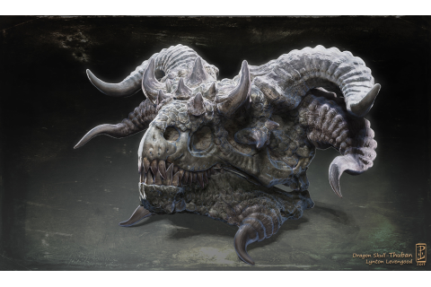 ArtStation - Dragon Skull- Thuban, Lynton Levengood