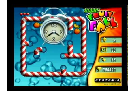 (Wii) Super Fruit Fall Deluxe Edition Arcade Gameplay ...