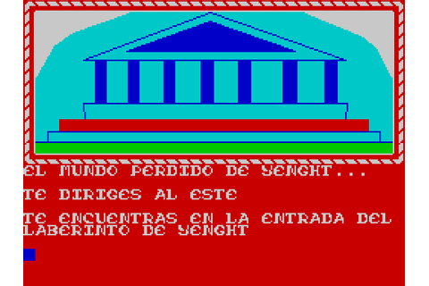 Yenght: La Fuente de la Juventud screenshots for ZX Spectrum