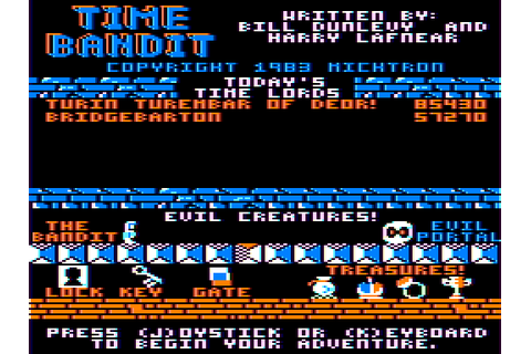 Time Bandit (1983) by Computer Shack / Michtron Tandy Coco ...