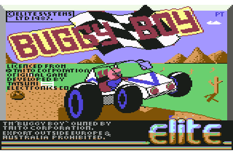 Buggy Boy (1987) by Elite C64 game
