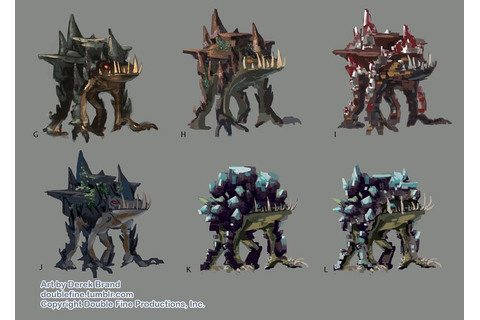 The Crystal Cave Monster concept art from Double Fine's ...