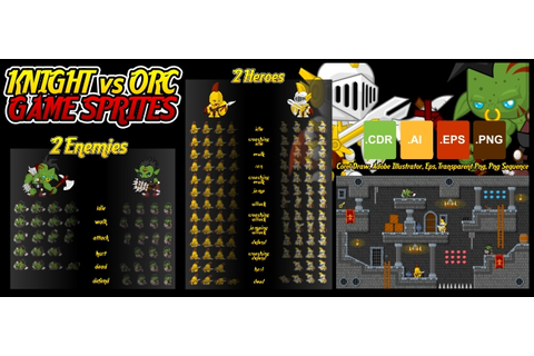 Buy Knight vs Orc - Game Sprites For UI Graphic Assets ...