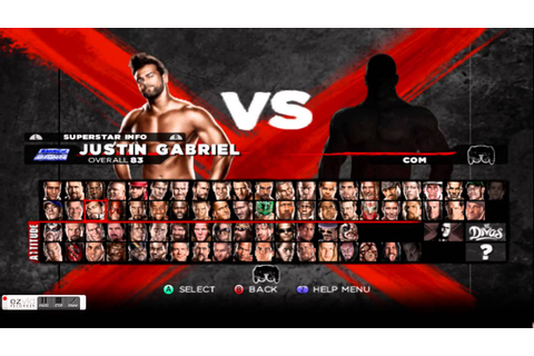 WWE'13 Roster (ALL UNLOCKABLES) WII - YouTube