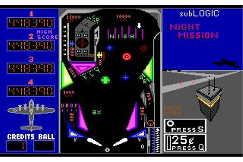 Night Mission Pinball (v3.0) Download (1988 Arcade action ...