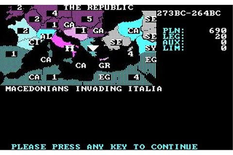Annals of Rome Download (1988 Strategy Game)