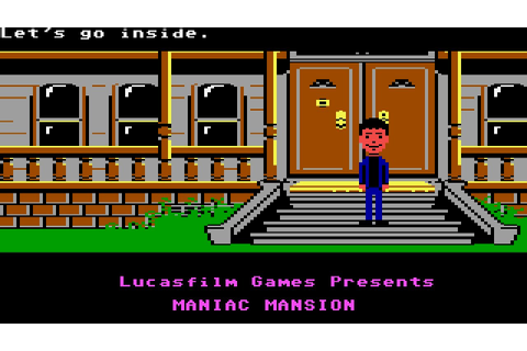 Maniac Mansion (PC/DOS) Rolling Demo, EGA 16-Color, 1987 ...